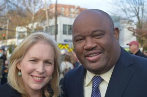 Senator Kirsten Gillibrand and Dominic Carter