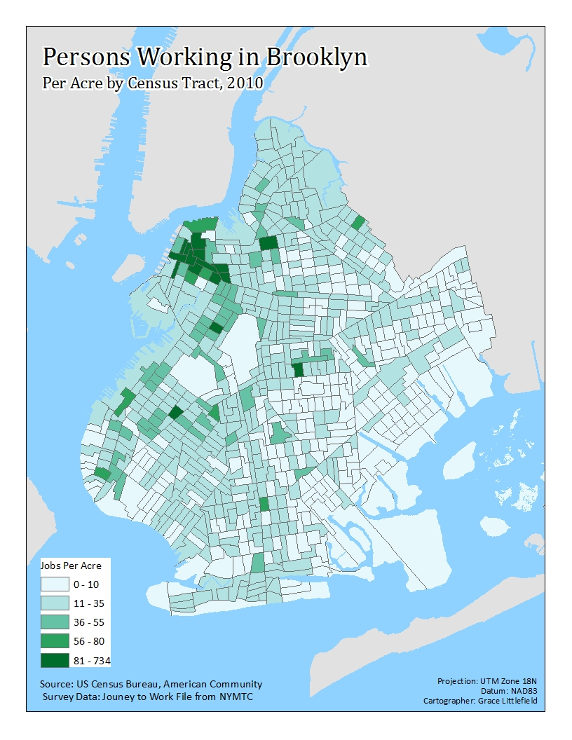 Room Eight The Geography Of Brooklyn Employment Growth - Brooklyn on the us map